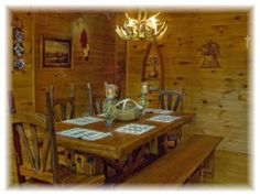 Pet-friendly Cabin Rentals in Georgia. My Mountain Cabins. Georgia Cabin Rentals, Luxury Cabin, Blue Ridge, Cabins, Vacations, Rest, Dining Table, Winter, Furniture