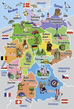 Schmidt - 55513 - Puzzle - Carte Illustrée de L'Allemagne: Amazon.fr: Jeux et Jouets