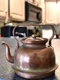 Miniature Copper Teapot ... off to a new home!