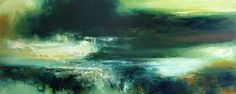 Green Isle by KIRSTIE COHEN oil on canvas, 50cm x 120cm