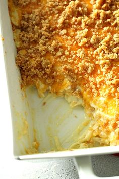 """This Cheesy Hashbrown Potato Casserole (or """"Funeral Potatoes"""") is full of melted cheese and is so creamy. Perfect for a holiday dinner or a party. Cheesy Potatoes With Hashbrowns, Cheesy Potato Casserole, Baked Potatoes, Potato Dishes, Potato Recipes, Easy Recipes, Cooking Recipes, Skillet Recipes, Cooking Gadgets"""