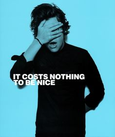 """We love One Direction's anti-bullying campaign! Harry Styles: """"It costs nothing to be nice."""""""