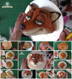 How to Make Nick Wilde Zootopia Cake Fondant Figures, Fondant Cakes, Cake Decorating Techniques, Cake Decorating Tutorials, Cupcakes, Cupcake Cakes, Zootopia Cake, Zoes Fancy Cakes, Movie Cakes