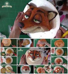 How to Make Nick Wilde Zootopia Cake