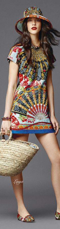 DOLCE & GABBANA #Fashion woman skirt dress top bag shoes jacket scarf coat lifestyle style clothing brands #CAJepson