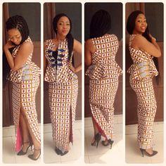 made by in Ghana designer African Lace Dresses, African Wedding Dress, Latest African Fashion Dresses, African Print Fashion, African Attire, African Wear, Ankara Long Gown Styles, Ankara Styles, Ghana Fashion
