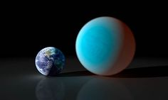 Are Super-Earths Really Mini-Neptunes?    This group of planets are all a few times more massive and slightly larger than the Earth. They orbit very close to their respective stars. The way in which the mass of planets scales with their sizes suggests that they have solid cores surrounded by hydrogen or hydrogen-rich atmospheres, probably captured from the clouds of gas and dust (nebulae) from which the planets formed.    An artist's impression comparing the super-Earth 55 Cancri e to the…