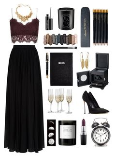 """New year, New style"" by hannahbrixwinther ❤ liked on Polyvore featuring Elie Saab, Topshop, Oscar de la Renta, Urban Decay, MAC Cosmetics, Casadei, Diptyque, Fountain, Sloane Stationery and Byredo"