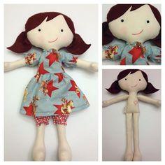 "Juniper - Handmade Fabric Doll 16"" | sew cute | Pinterest"