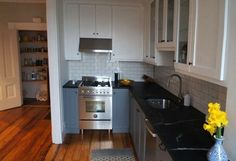 Soapstone counters. Love!  Dan's Kitchen: The Big Reveal — Renovation Diary