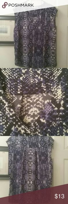 Pretty snakeskin print top This is an excellent condition very light weight the net and cut off sleeves could be dressy or casual great for summer Daniel Rainn Tops Blouses