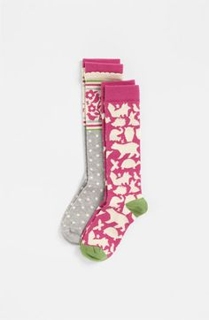 Nordstrom 'Forest Friends' Knee High Socks (2-Pack) (Toddler, Little Kid & Big Kid) available at #Nordstrom