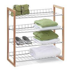 Wood and Metal Storage Shelf  Natural
