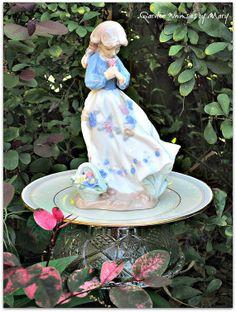 Girl with Flower Basket Garden Totem Stake by GardenWhimsiesByMary, $38.00