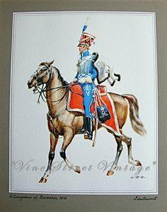 Vintage Military Print Kingdom of Bavaria by vinestreetvintage, $28.00