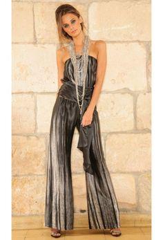 Shop the Mandy Pant in Gradient Charmeuse! #ramonalarue #mandypant #gradient #charmeuse #bottoms #clothing #fashion #designer #boutique #miamifashion #madeinmiami