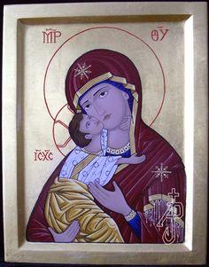 Theotokos icon. Icon portfolio by Andre Prevost in Winnipeg Manitoba