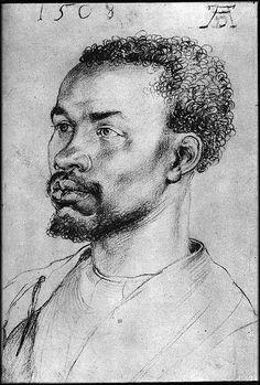 Negro man, Durer, 1508