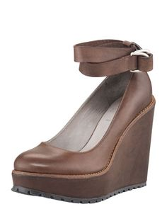 Thursday, September 21st: Brunello Cucinelli Ankle-Wrap Platform Wedge, 212 872 8947