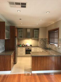 Kitchen splashback renovation Newport melbourne #renoworx Bathroom Renovations Melbourne, Splashback, Newport, Kitchen Cabinets, Table, Furniture, Home Decor, Decoration Home, Room Decor
