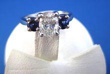 Vintage 0.80 Carat Diamond & .52 Carat Sapphire 14K Engagement Ring, $3,995.00