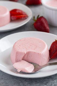 Strawberry Panna Cotta Recipe | No Bake | Summer | Dessert | Made from Scratch | Homemade