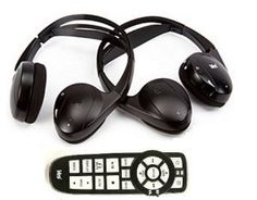 VES Chrysler Dodge Jeep Wireless DVD Headphones Headsets (Set of Two) and One Remote Control 2008 2009 2010 2011 2012 2013 by AudioVideo2go. $95.23. Road trips no longer have to be boring for the kids or rear seat passengers in your Jeep, Chrysler or Dodge vehicle (model years 2008 and newer).  Now they can enjoy in-car entertainment beamed directly to their headphones so that the driver is not distracted or disturbed.    This package includes TWO headphones (enoug...