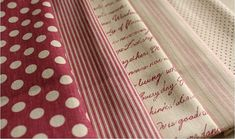 Cotton Linen Fabric Cloth -DIY Cloth Art Manual Cloth -Stripe Letters Quilts 43x19 Inches. $7.50, via Etsy.