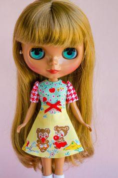 Apple Farm Handmade Dress for Neo Blythe Doll by by PlasticFashion