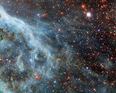 Parte de la periferia de la Nebulosa de la Tarántula en la Gran Nube de Magallanes.