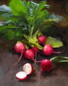 Los rábanos Pintura - rábanos frescos de Robert Papp