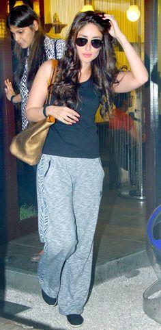 Kareena Kapoor spotted exiting a popular Bandra nightspot. #Bollywood #Fashion #Style #Beauty #Hot
