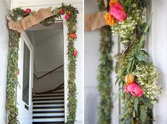Floral Garland + Welcome Banner DIY | Oh Happy Day!