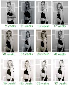 Pregnancy Belly Progression Week By Week - healthcareadministration1 ...