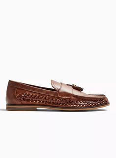 Carousel Image 0 Mens Woven Loafers, Tassel Loafers, Topman Clothes, My Bags, Casual Shoes, Shopping Bag, Tassels, Asos, Weaving