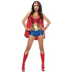 Adult Wonder Lady Sexy Costume ($100) ❤ liked on Polyvore featuring costumes, halloween costumes, multicolor, sexy women costumes, adult superman costume, sexy costumes, sexy women halloween costumes and adult ladies halloween costumes