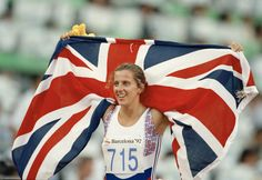 Sally Gunnell at the 1992 Barcelona Olympic Games. Team Gb Olympics, 1992 Olympics, Barcelona, Sports Women, Female Sports, Sports Stars, Track And Field, Olympic Games, Strong Women