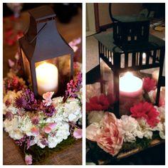 lantern floral centerpieces   Lantern Centerpiece Mock Up : wedding blush centerpiece diy flowers ...