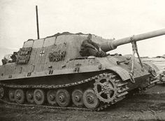 A Jagdtiger featuring the 8 roadwheel Porsche chassis operating with the schwere Pz.Jg. Abt. 653