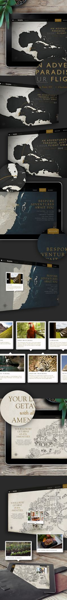 Belize Interactive Map for Ka'ana Boutique Resort by Amy Weibel, via Behance