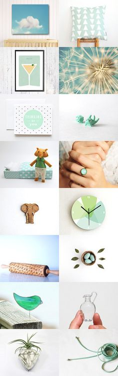 Mint love by Kamila on Etsy--Pinned with TreasuryPin.com
