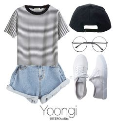 """""""Fair with Yoongi"""" by btsoutfits ❤ liked on Polyvore featuring Aéropostale, Retrò and Stussy"""