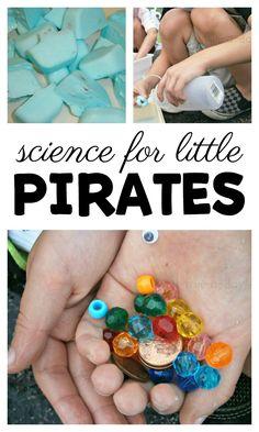 Pirate science activity for preschool #preschool #preschoolers #preschoolactivities #scienceforkids #preschoolscience #pirates #summercamp #funaday #kindergarten
