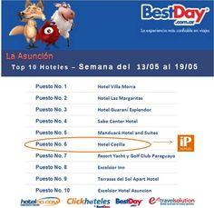 iP Hoteles - Top 10 - Hoteldo - Hotel Cecilia - Semana del 13 al 19 de Mayo