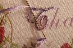 Wonderful Ribbon Embroidery Flowers by Hand Ideas. Enchanting Ribbon Embroidery Flowers by Hand Ideas. Embroidery Stitches Tutorial, Embroidery Letters, Types Of Embroidery, Learn Embroidery, Japanese Embroidery, Embroidery Needles, Silk Ribbon Embroidery, Crewel Embroidery, Embroidery Techniques