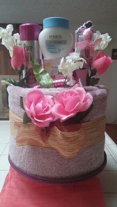 Mother's Day Towel Cake