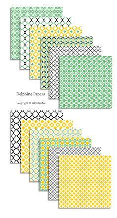 Quatrefoil digital paper