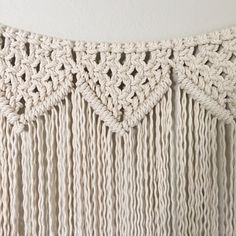 Macrame Wall Hanging/Garland Pattern Pattern Name - Reverse Clove Hitch Triangle Garland Buy 4 DIY Macrame Patterns and get one $4.99 pattern free using Coupon Code: Macrame This is a digital download pattern/DIY for a Macrame Wall Hanging that I designed. It list the materials needed