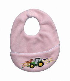 John Deere Pickles Baby Bib, Pink Farm Animals « Clothing Impulse