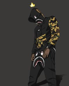 19 Best Dope Supreme Bape Nike Toons Images On Iphone Animated Wallpaper